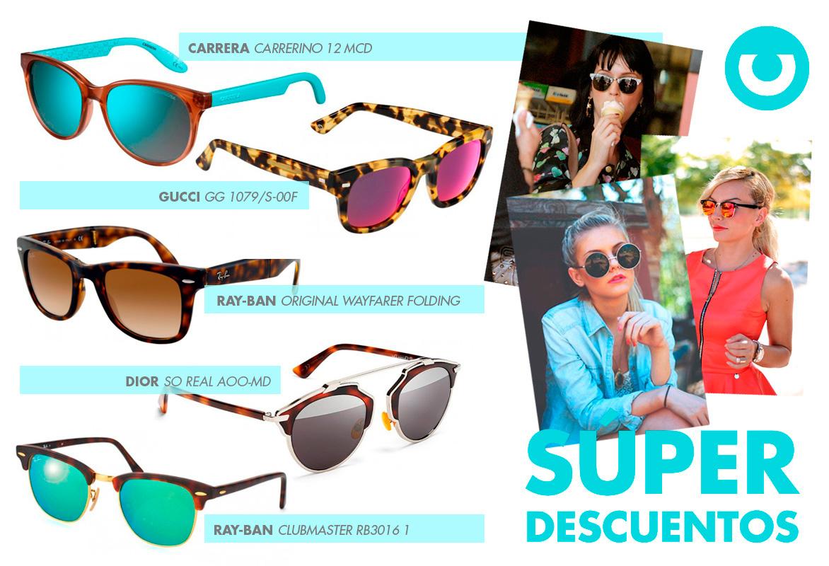 33f6e4d928 Muchas son las marcas que se apuntan a esta gran fiesta de la variedad en  gafas de sol como Ray Ban, Oakley, Carrera, Persol, Tous, Dior…