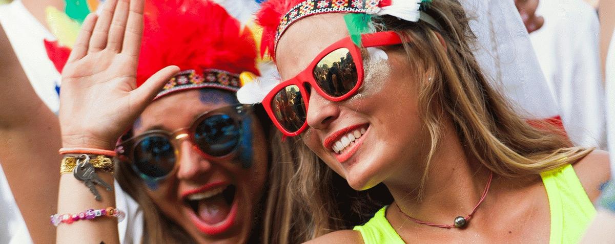Gafas festivaleras
